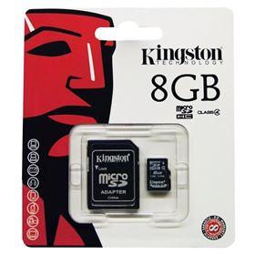 Imagen de MicroSD Kingston 8GB Clase 4