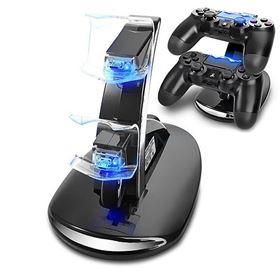 Imagen de Soporte dock cargador dual LED  para Controles de Playstation 4