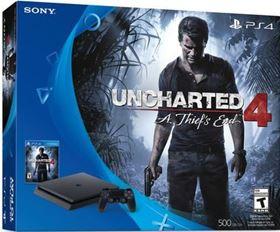 Imagen de PlayStation 4 Slim 500GB con Uncharted 4