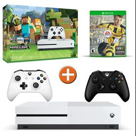 Imagen de Xbox One S 500GB Minecraft + FIFA 17 + Joystick