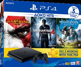 Imagen de PlayStation 4 Slim 500GB + 3 Juegos + PS Plus 3 Meses