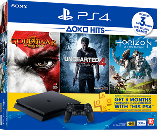 Playstation 4 Slim 500gb 3 Juegos Ps Plus 3 Meses Macrotec