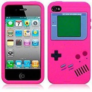 08026ed2f2a Estuche Gameboy iPhone 5 5S SE Rosa | Macrotec