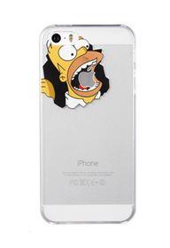 Imagen de TPU transparente Los Simpson  iPhone 5  5 SE