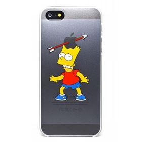Imagen de TPU transparente  Simpson  Bart  iPhone 5 5S SE