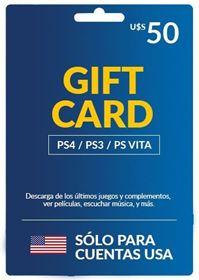 Imagen de PlayStation Network Card U$S50 para cuentas USA