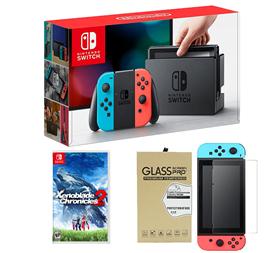 Imagen de Nintendo Switch + Xenoblade Chronicles 2 + Vidrio Templado