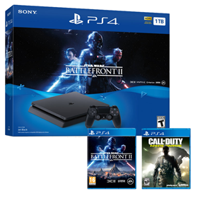 Imagen de PlayStation 4 Slim 1TB Star Wars Battlefront II + Call of Duty Infinite Warfare