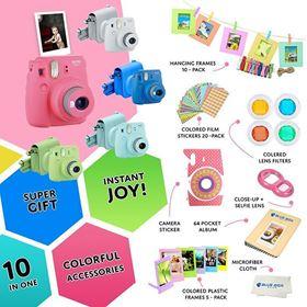 Imagen de Kit Camara Instantanea Fuji Instax mini 9 + 10 Accesorios