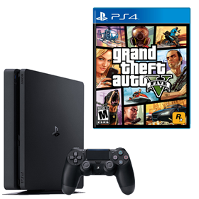 Imagen de PlayStation 4 Slim 500GB + GTA 5