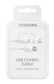 Imagen de Cable USB Combo Tipo C y Micro USB Original Samsung