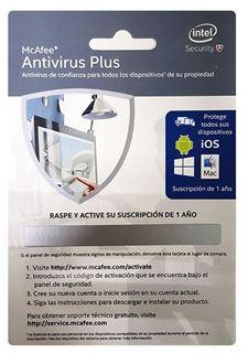 Imagen de McAfee Antivirus Plus suscripción 1 año