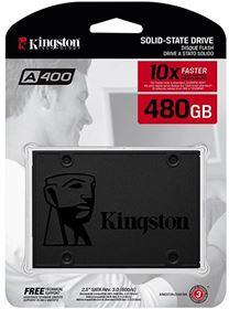 Imagen de Disco Duro Interno SSD Kingston 480GB A400 SATAIII 2.5''