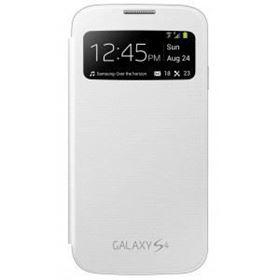 Imagen de Filp cover con ventana blanco para Samsung S4