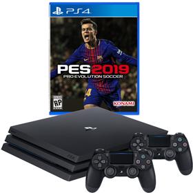 Imagen de PlayStation 4 Pro 1TB + PES 19 + 2 Joysticks