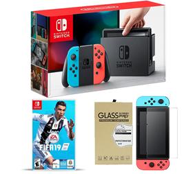 Imagen de Nintendo Switch + FIFA 19 + Vidrio Templado