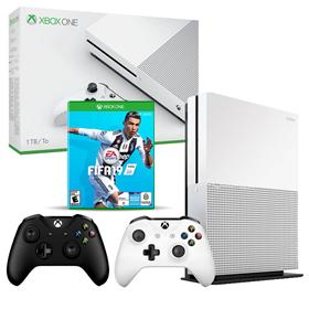 Imagen de Xbox One S 1TB + FIFA 19 + 2 Joysticks