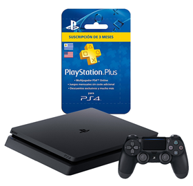 Imagen de PlayStation 4 Slim 1TB + Plus 3 Meses