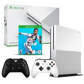 Imagen de Xbox One S 500GB Ref + FIFA 19 + 2 Joysticks