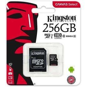 Imagen de Micro SD Kingston 256GB Clase 10 CANVAS Select