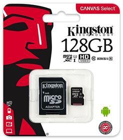 Imagen de Micro SD Kingston 128GB Clase 10 Canvas Select