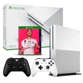Imagen de Xbox One S 1TB + FIFA 20 + 2 Joysticks