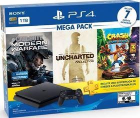 Imagen de PlayStation 4 1TB + 7 juegos + PS Plus