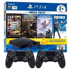 Imagen de PlayStation 4 1TB + 3 juegos + Fortnite + PS Plus + Joystick