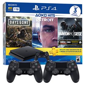 Imagen de PlayStation 4 Slim 1 TB + 3 Juegos + PS Plus 3 meses con 2 Joystick