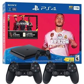 Imagen de PlayStation 4 Slim 1 TB + FIFA 20 + 2 Joystick