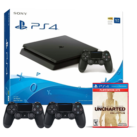 Imagen de PlayStation 4 1TB + Uncharted Collection con 2 Joystick