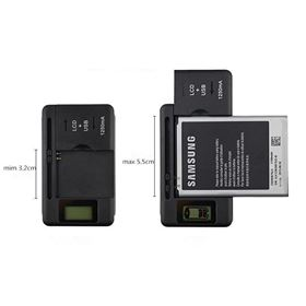 Imagen de Cargador Universal de bateria Con LCD y USB