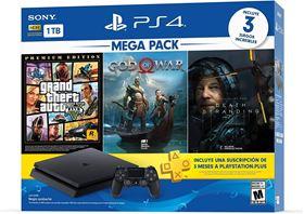 Imagen de PlayStation 4 Slim 1 TB + 3 Juegos + PS Plus 3 meses