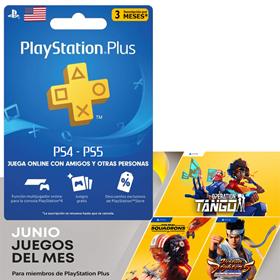 Imagen de PlayStation PS Plus 3 Meses para cuentas de USA únicamente PS4 y PS5