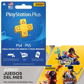 Imagen de Playstation Plus 3 Meses para cuentas de Uruguay PS4 y PS5