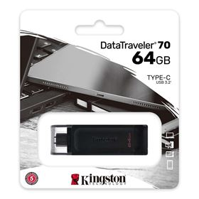 Imagen de Pendrive Kingston DataTraveler 70 64GB 3.2 USB Tipo C